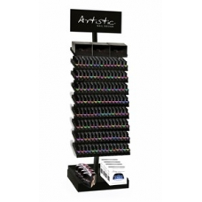 #03806 Display vloerstandaard gevuld met 720 stuks Artistic Colour Gloss Soak of Gel. Bespaar meer dan 1500,- Euro !!!