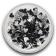 Zijden hart Zwart 0,5 gram (Mini)
